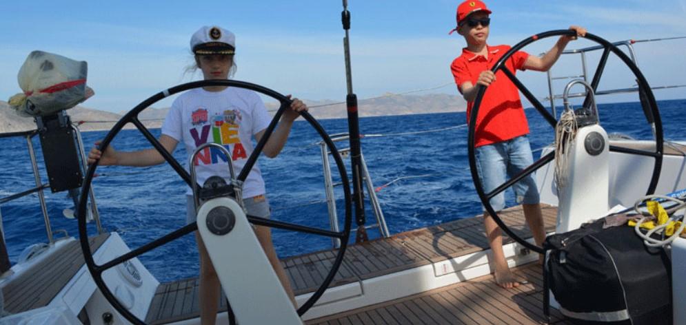 Морская прогулка на яхте, рыбалка на Родосе
