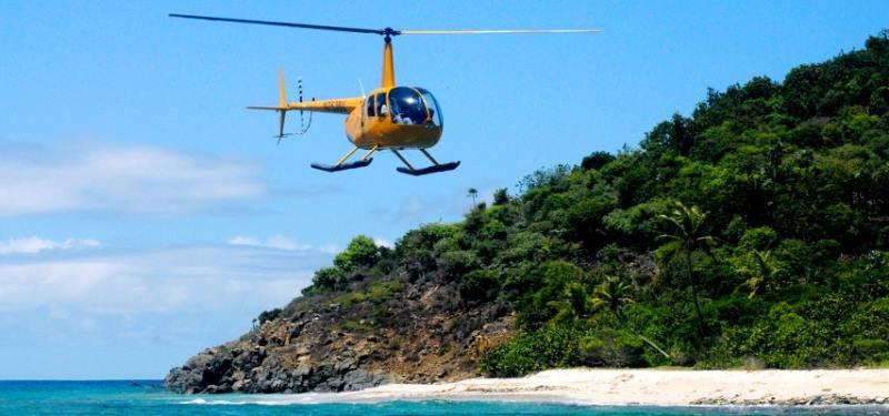 Остров Саона на вертолете