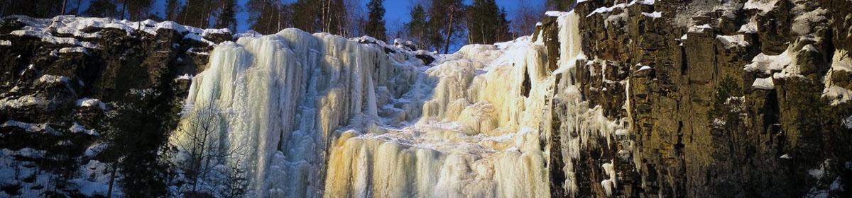 Ледяной водопад Короуoма